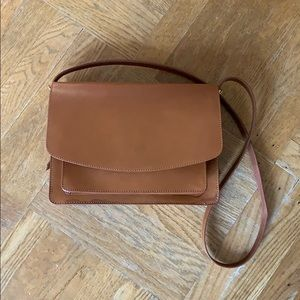 And Other Stories Leather Saddle Bag